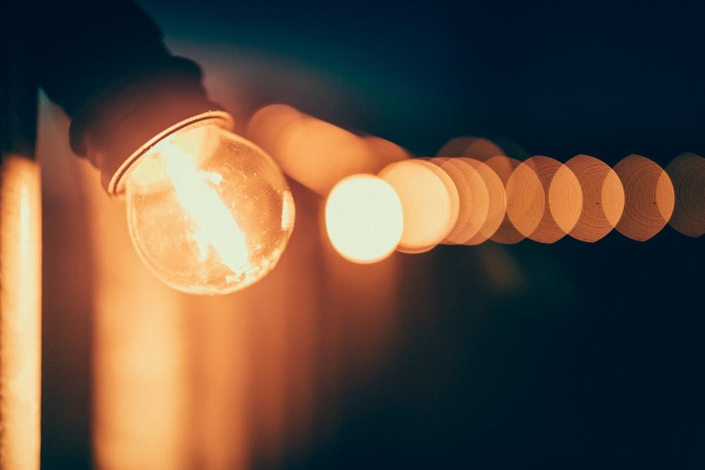 light bulb bokeh photography