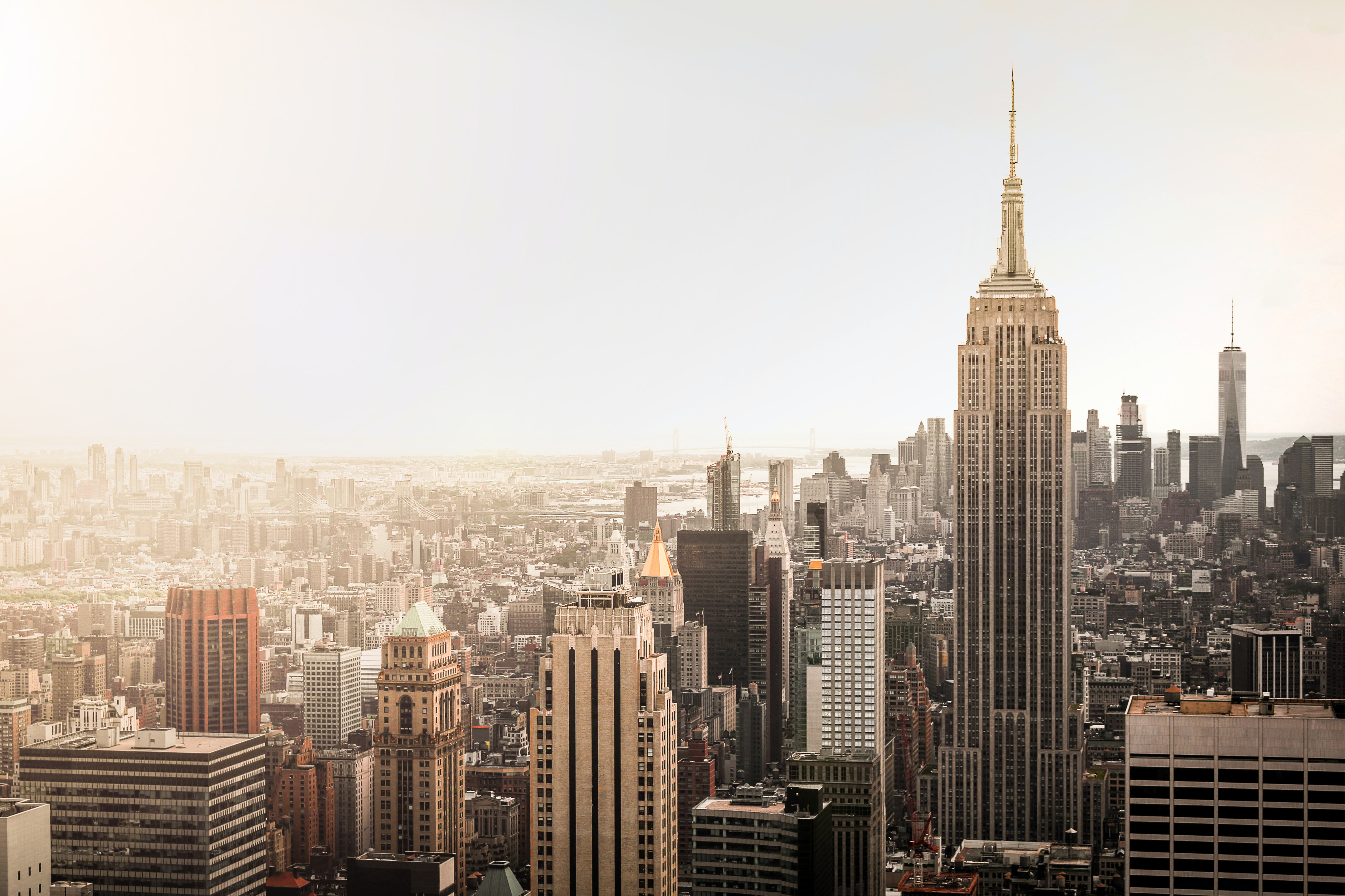 aerial photography of New York city