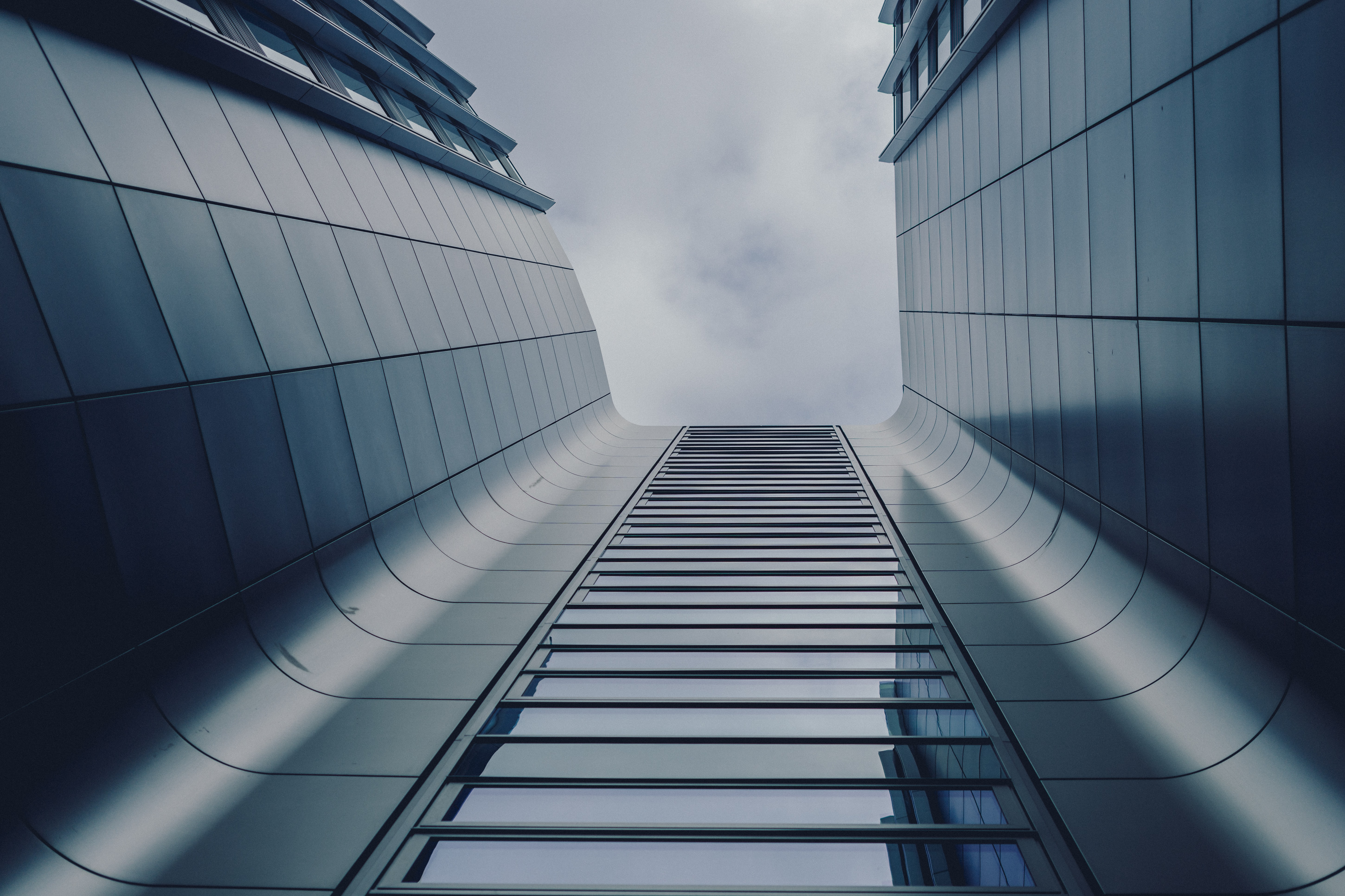 worms eyeview of gray building