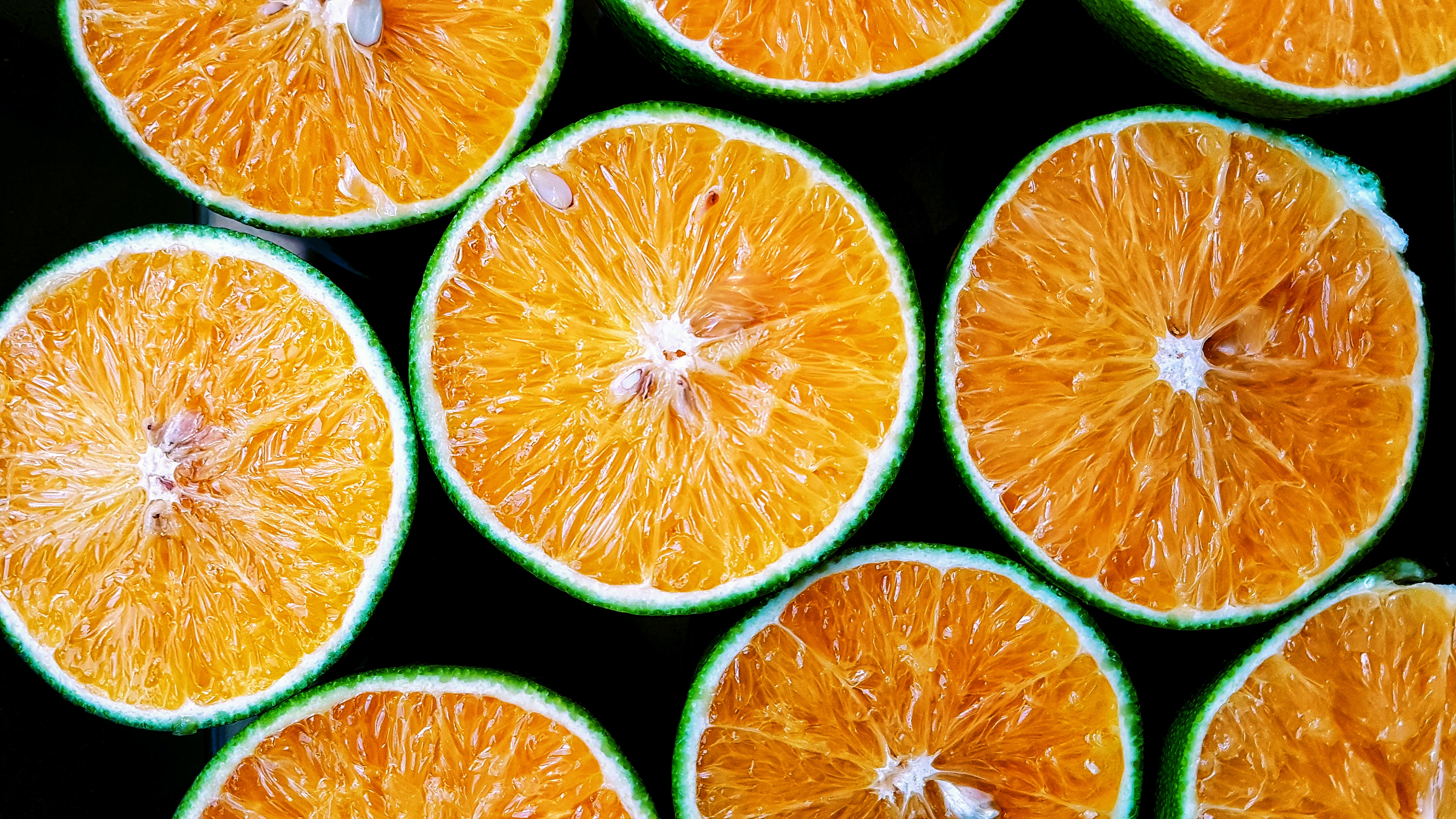 orange fruit slices