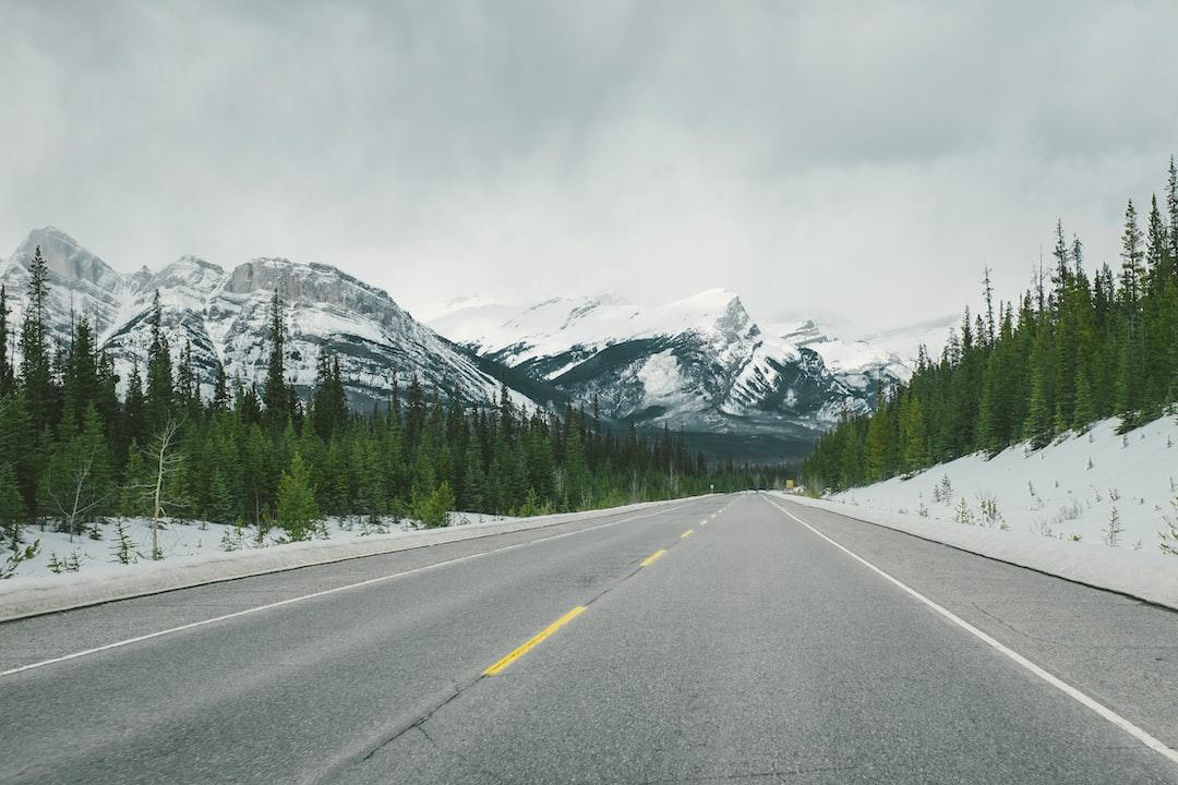 Mountain road in Jasper