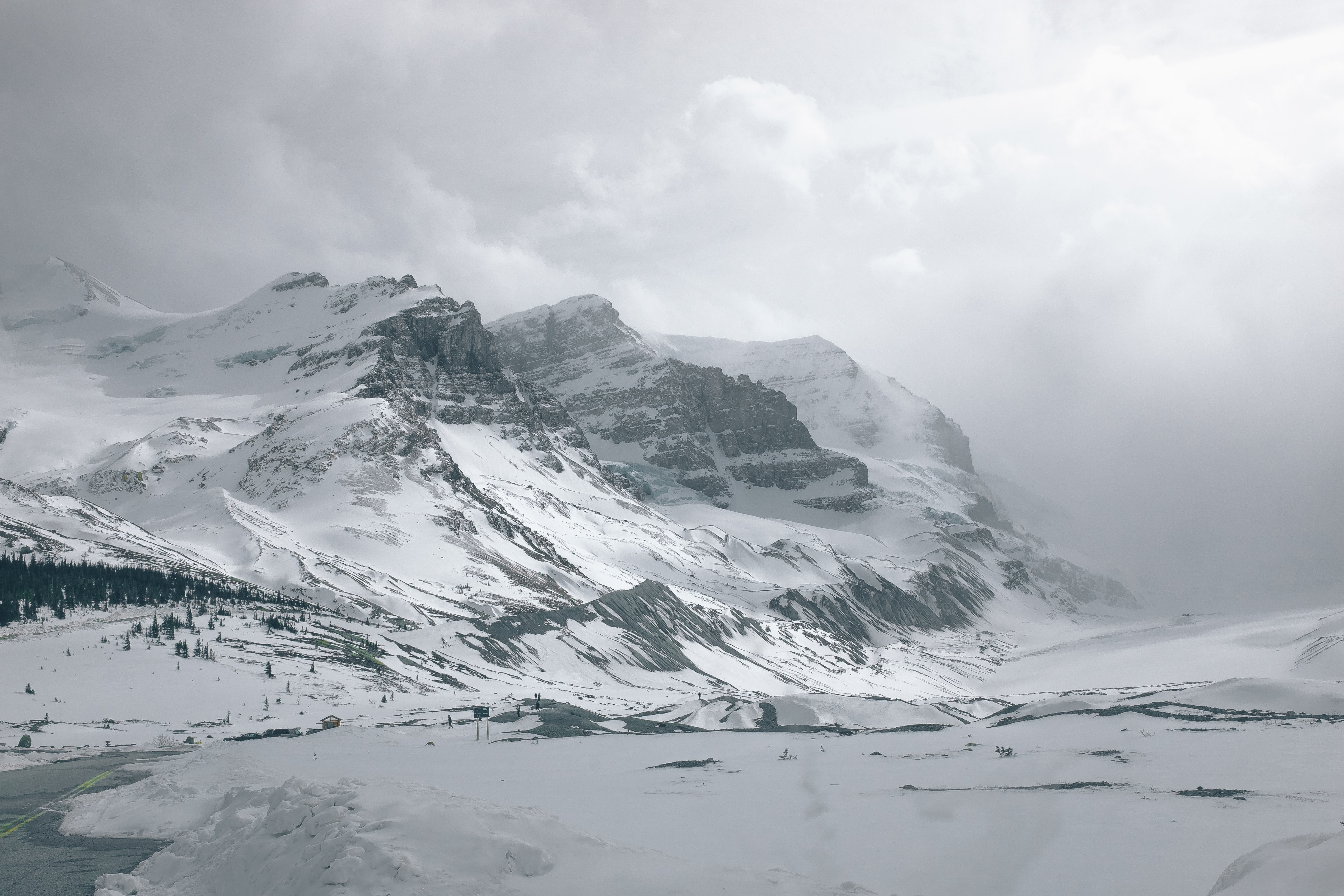 panoramic photography of mountain covered snow