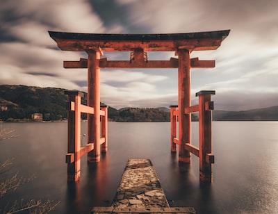 torii gate, japan tokyo zoom background