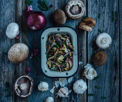 assorted mushrooms food styling zoom background
