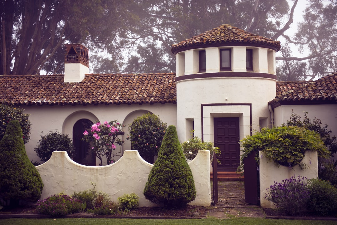 This home is one built by William Randolph Hearst in San Simeon, California. It sits near the beach, just across the highway from the famous Hearst Castle.