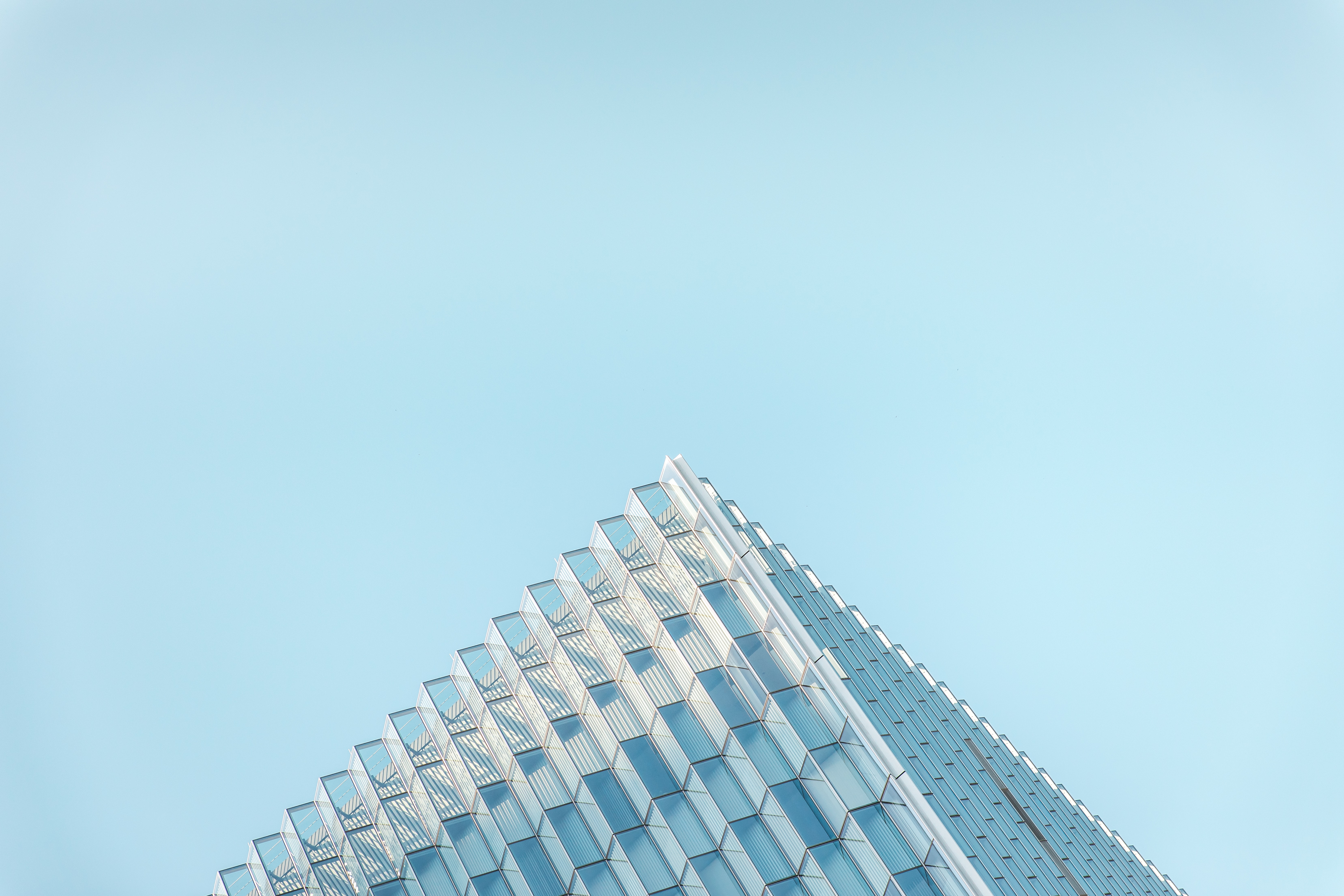 white and blue concrete building ceiling photo