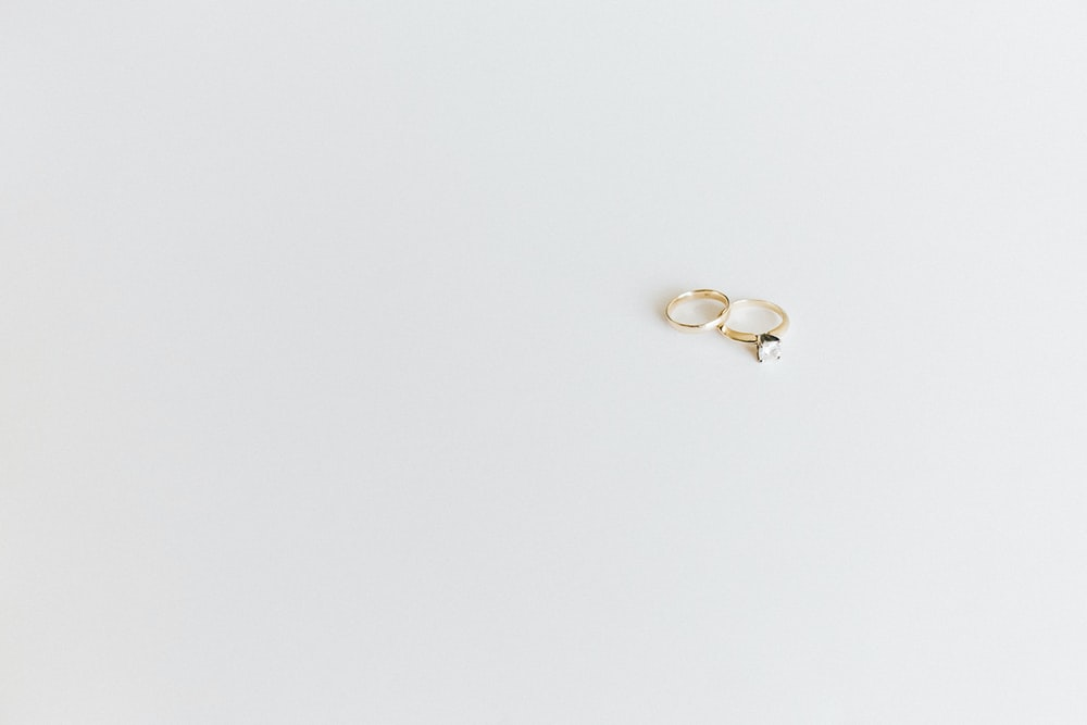 gold-colored rings