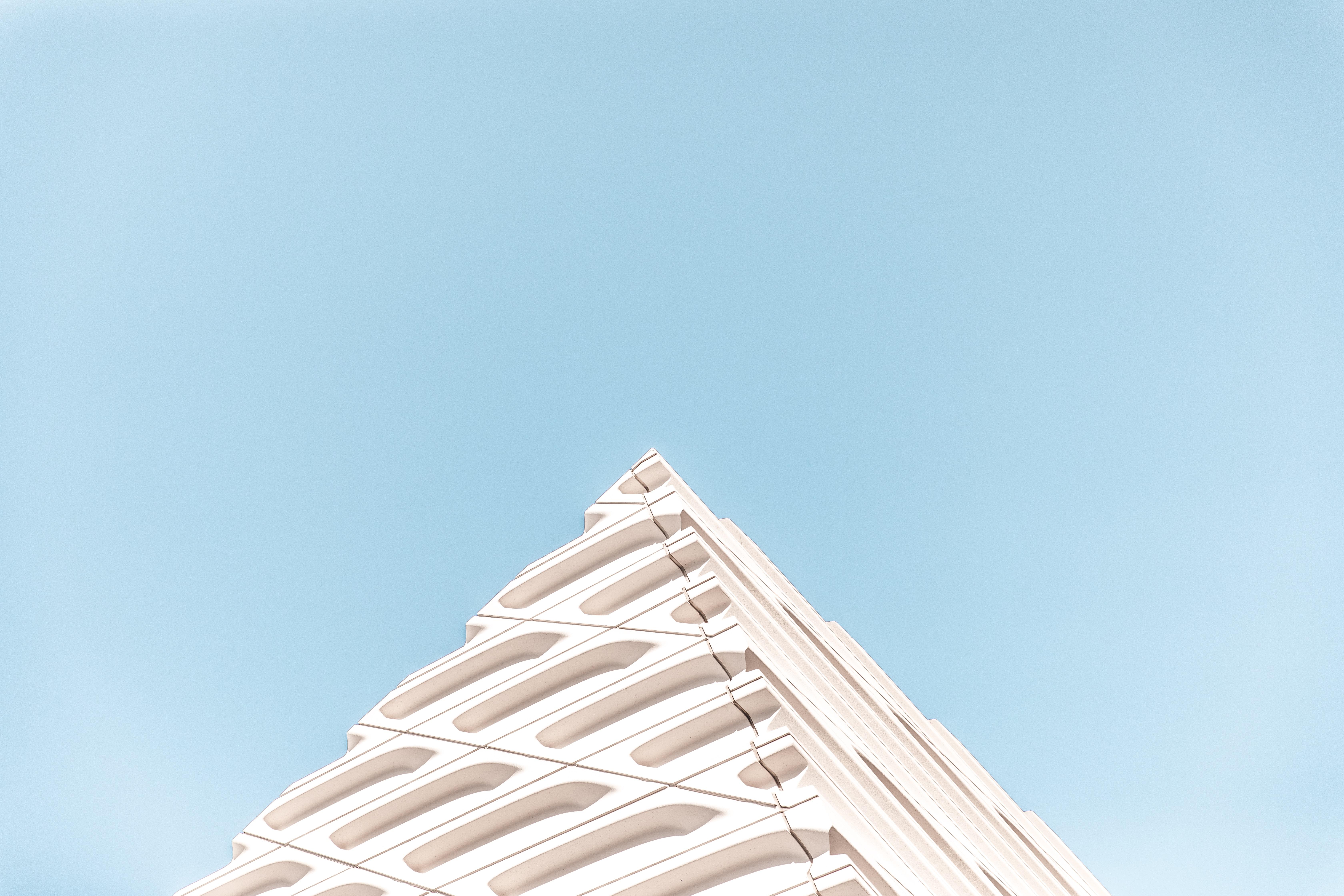 white pyramid structure
