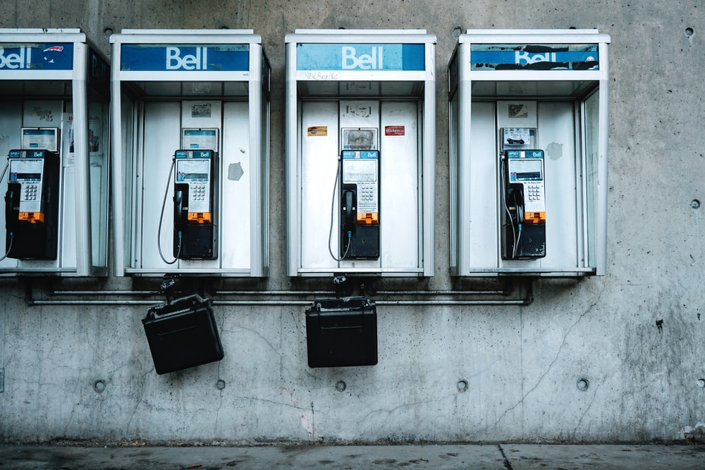 gray phonebooths