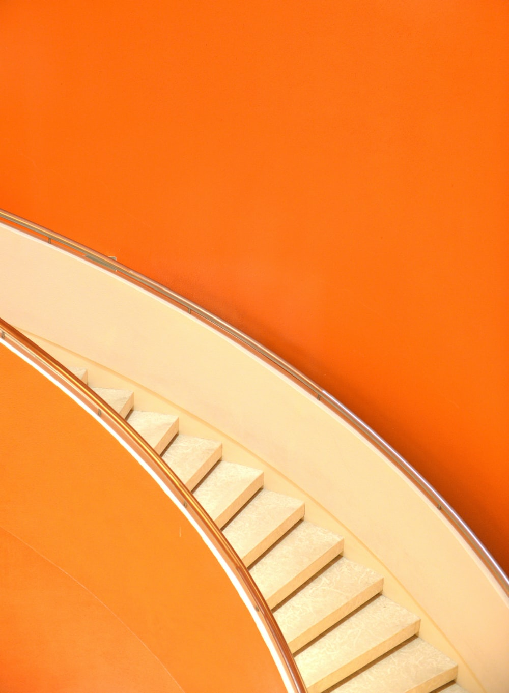 stair inside red wall