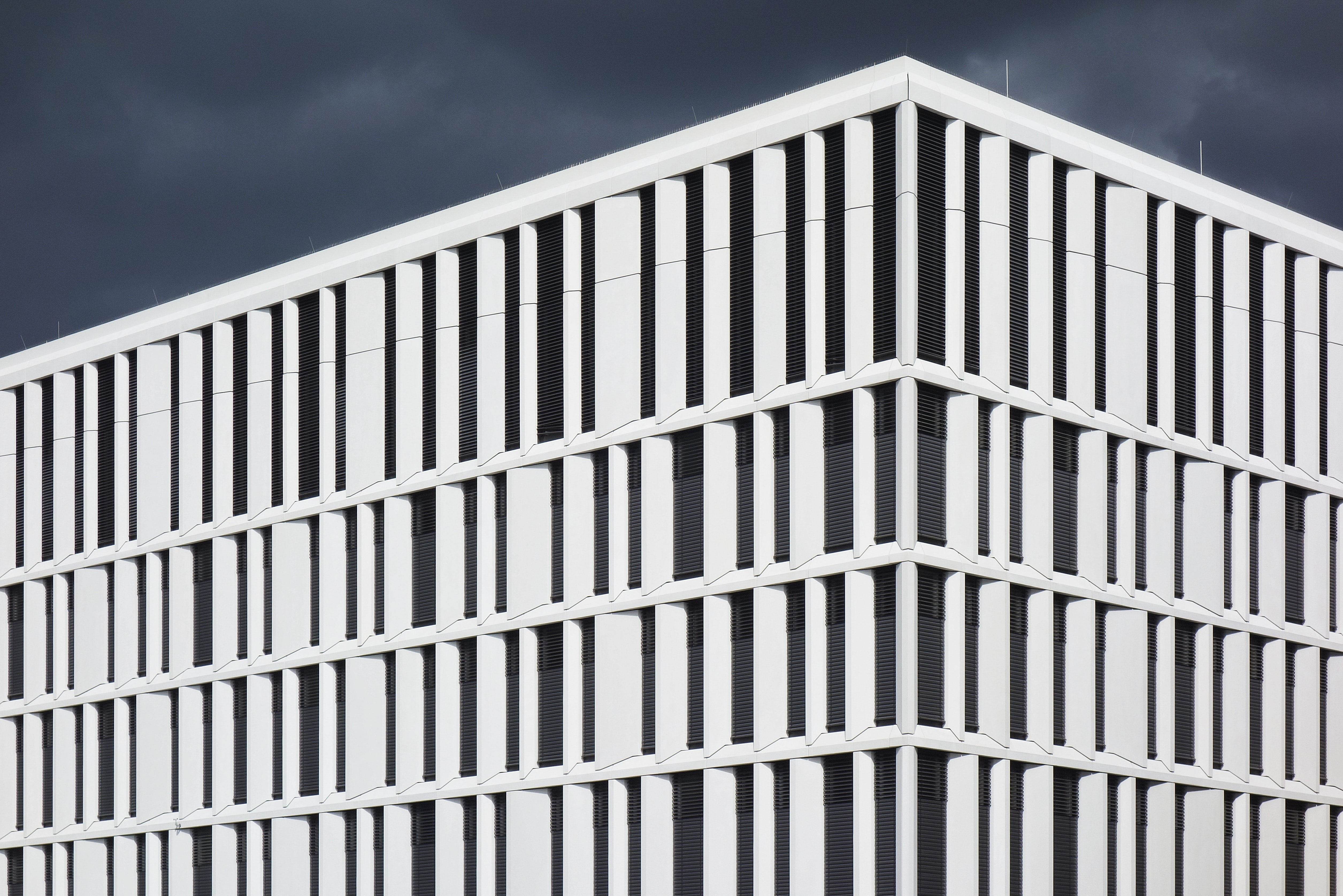 white and black concrete building design