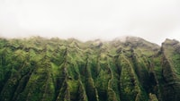 green curved mountaing photo