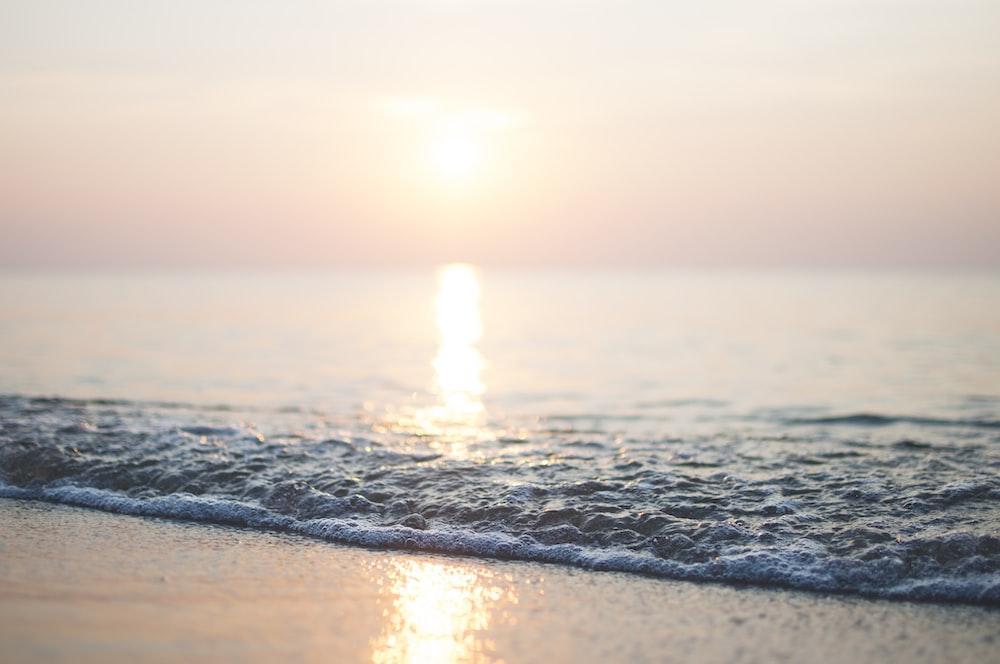 water on seashore