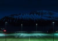 turned on field lights
