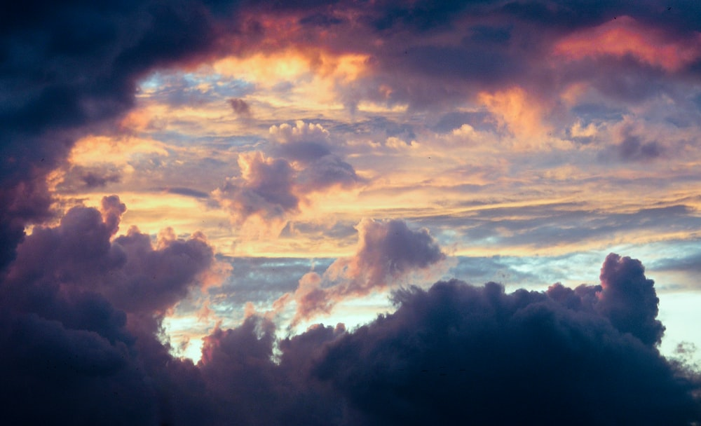 birds eye view photography of cloudy sky