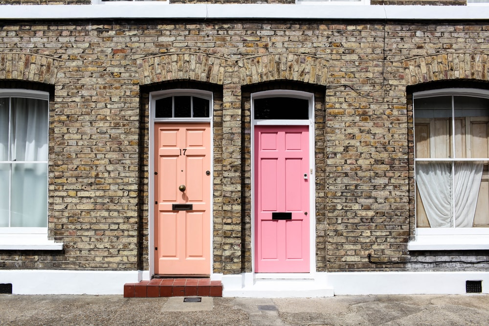 two doors together during daytime