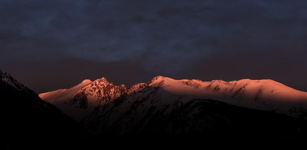 landscape photograph of mountain alps