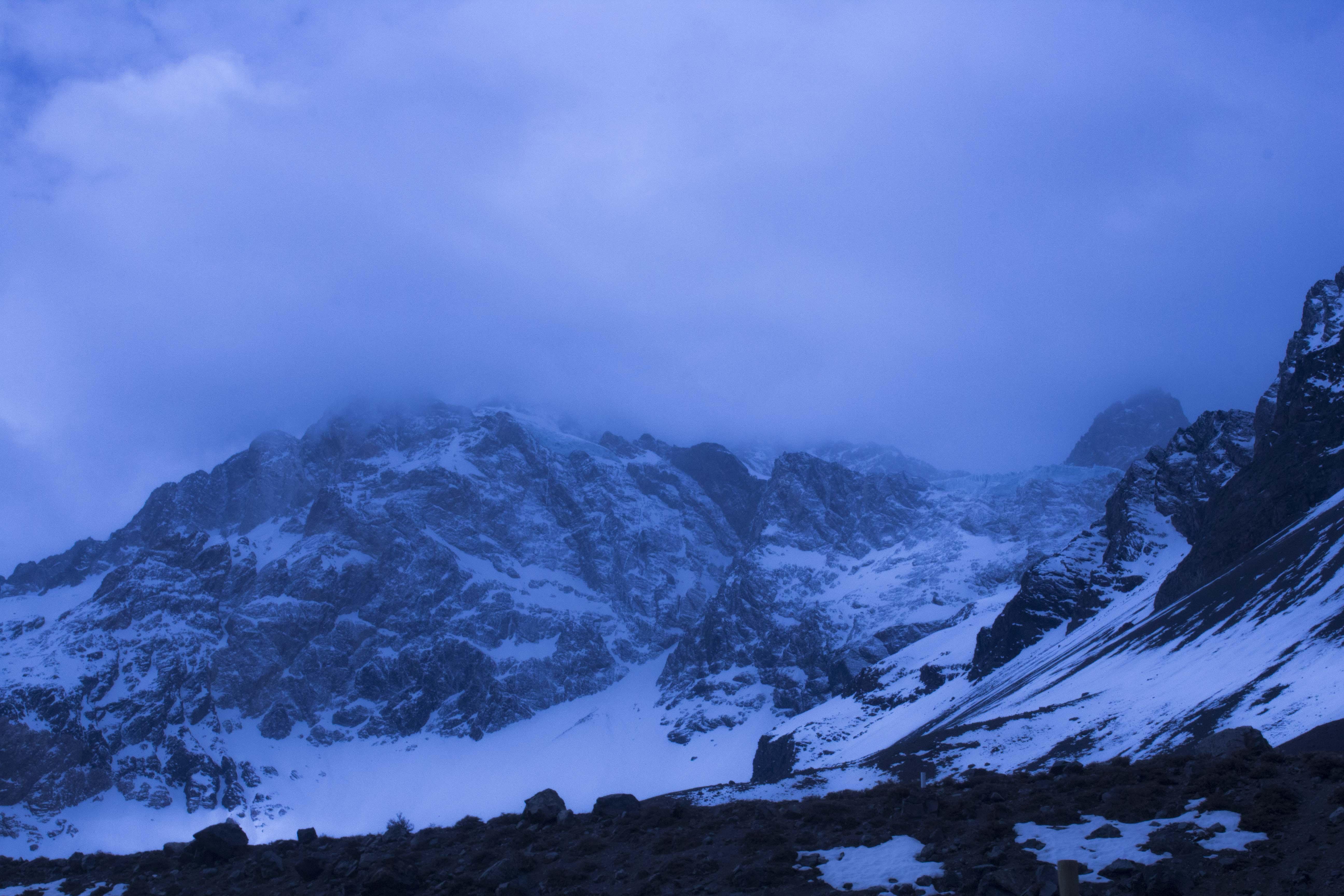 snowy rocky mountain