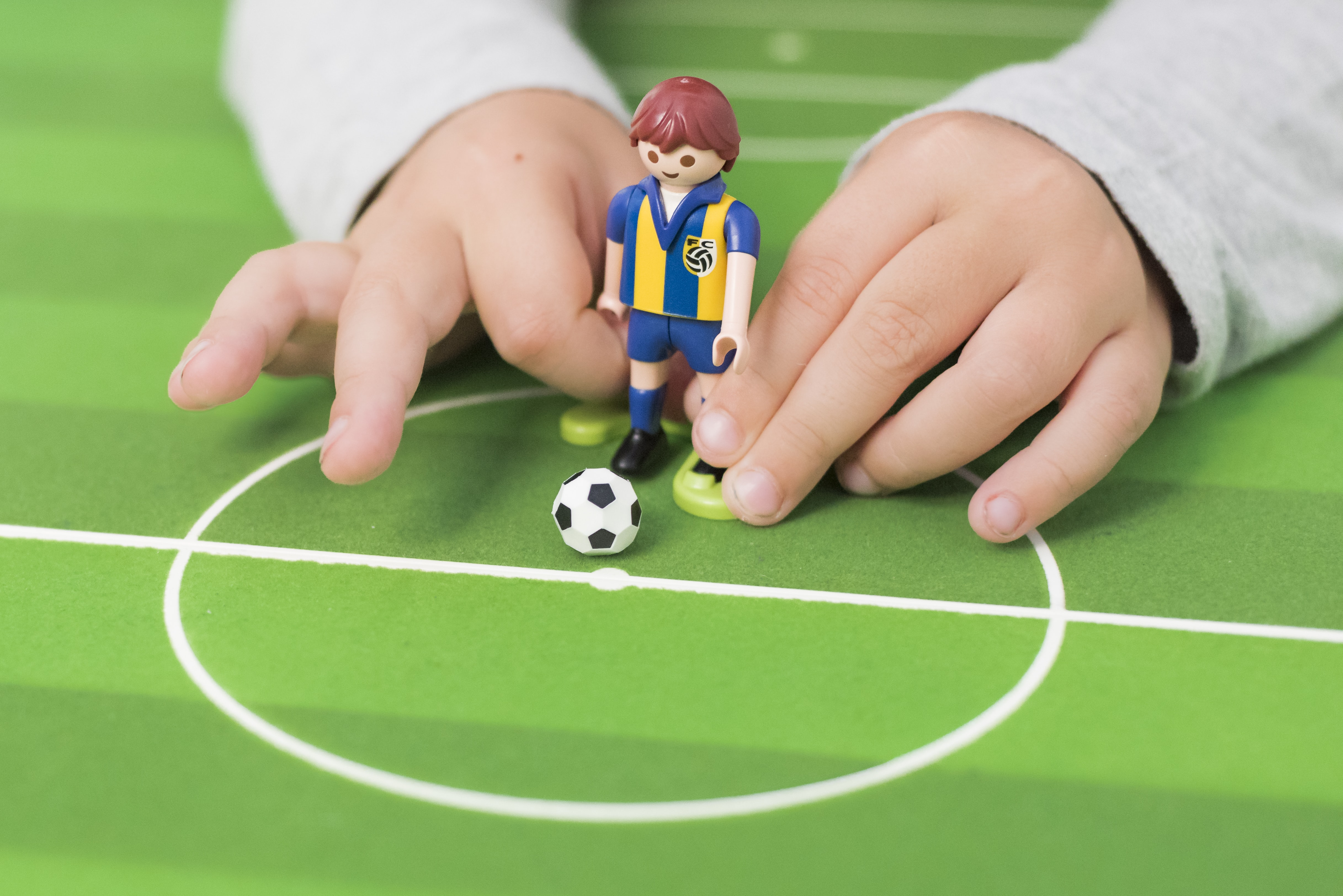 person playing minifig soccer