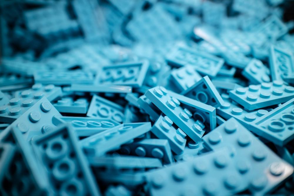 blue building block lot