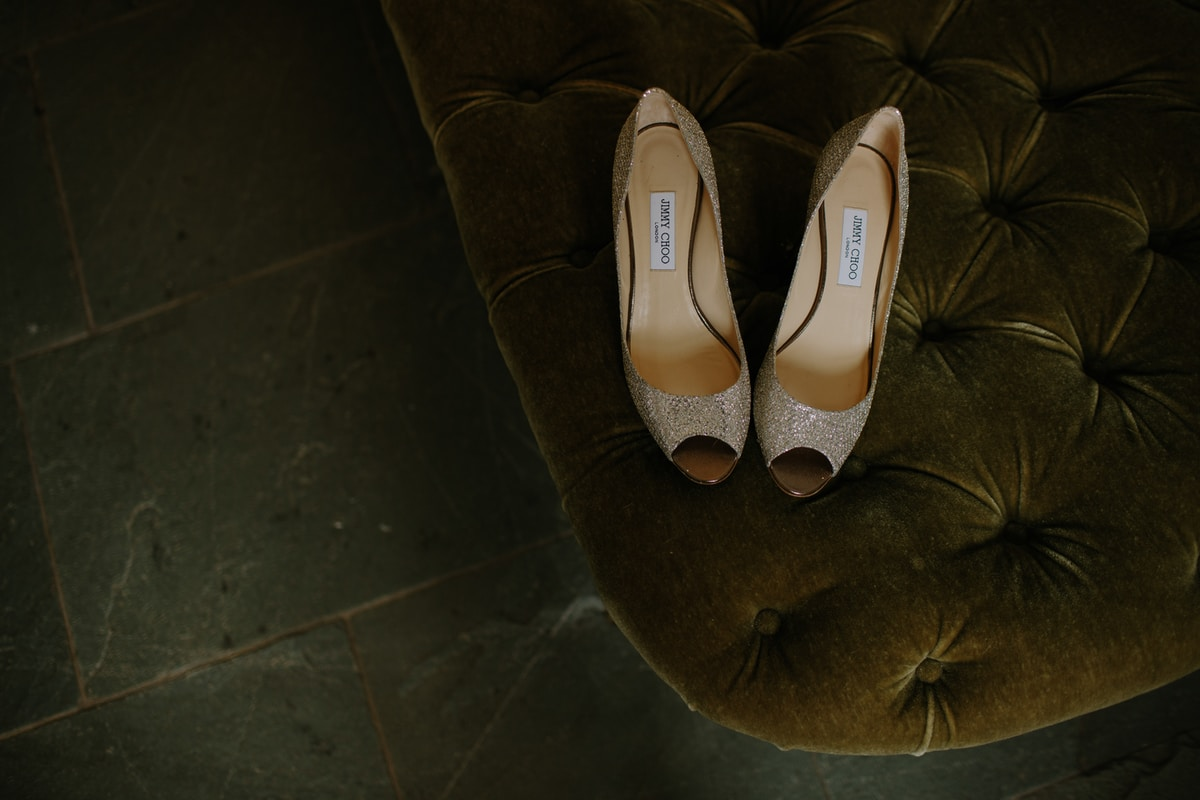 Isle of Man Wedding Jimmy Choo shoes