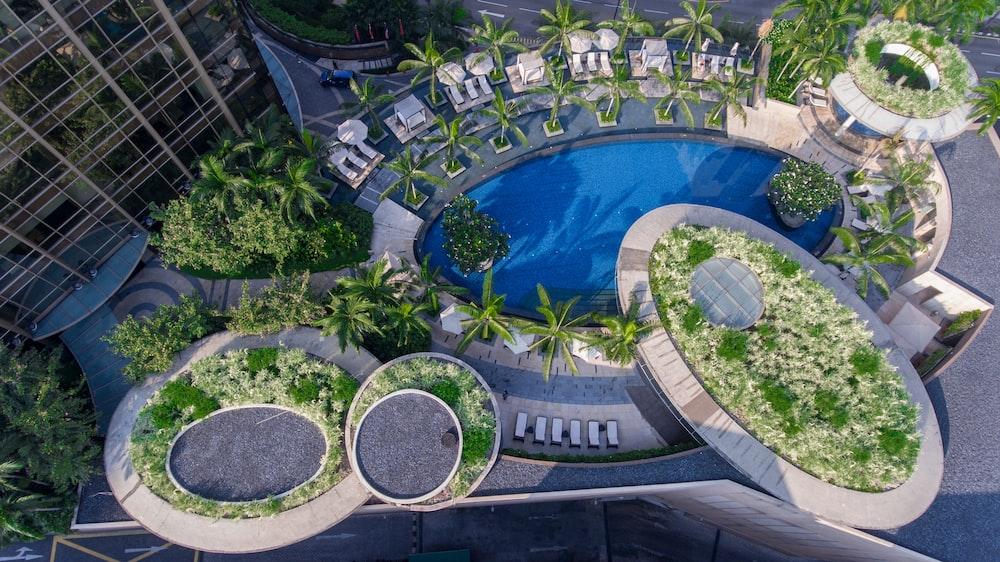bird's eyeview of hotel resort