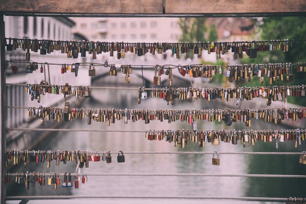 love lock photo with black frame