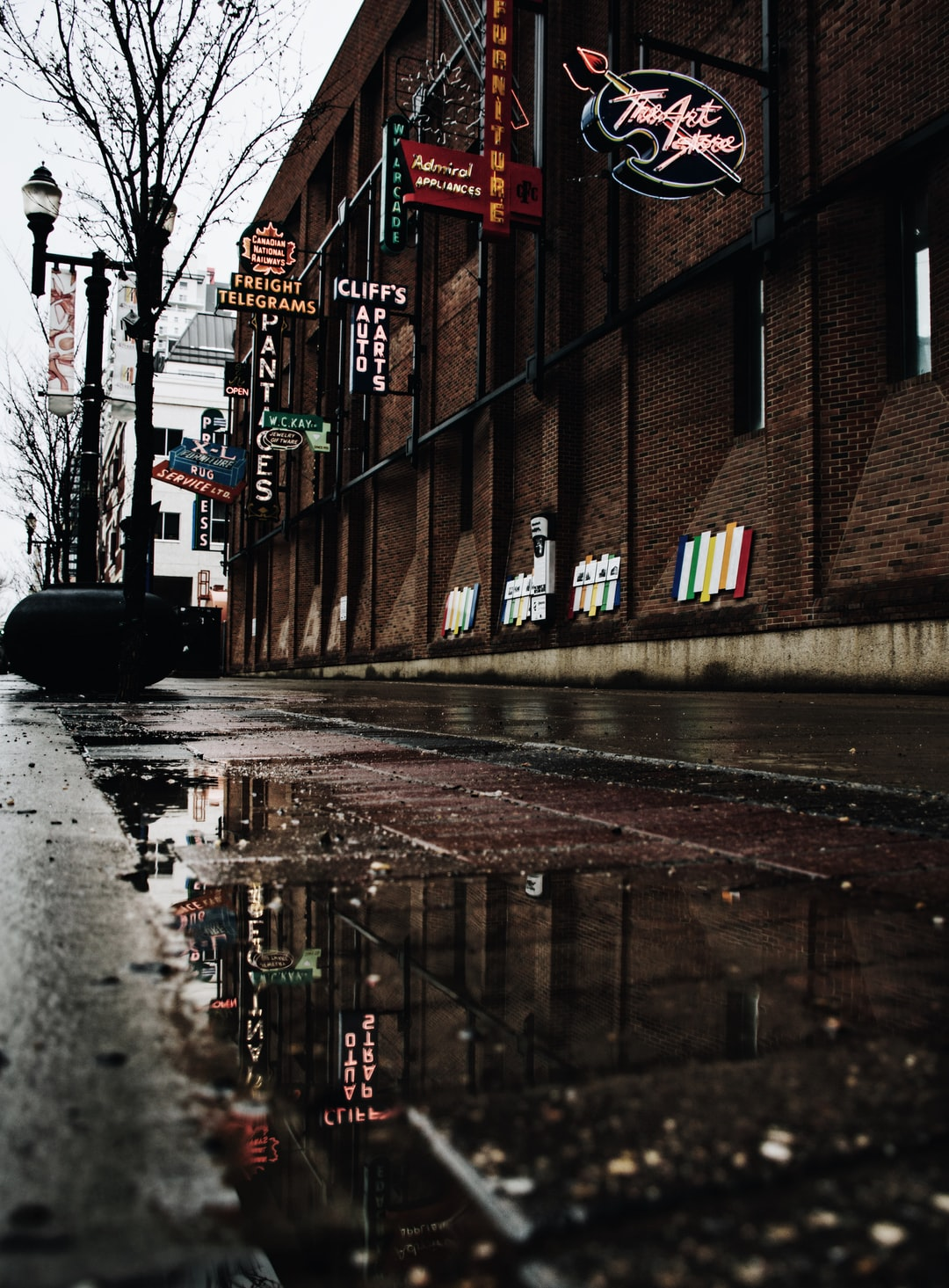 Street, puddle, puddle...