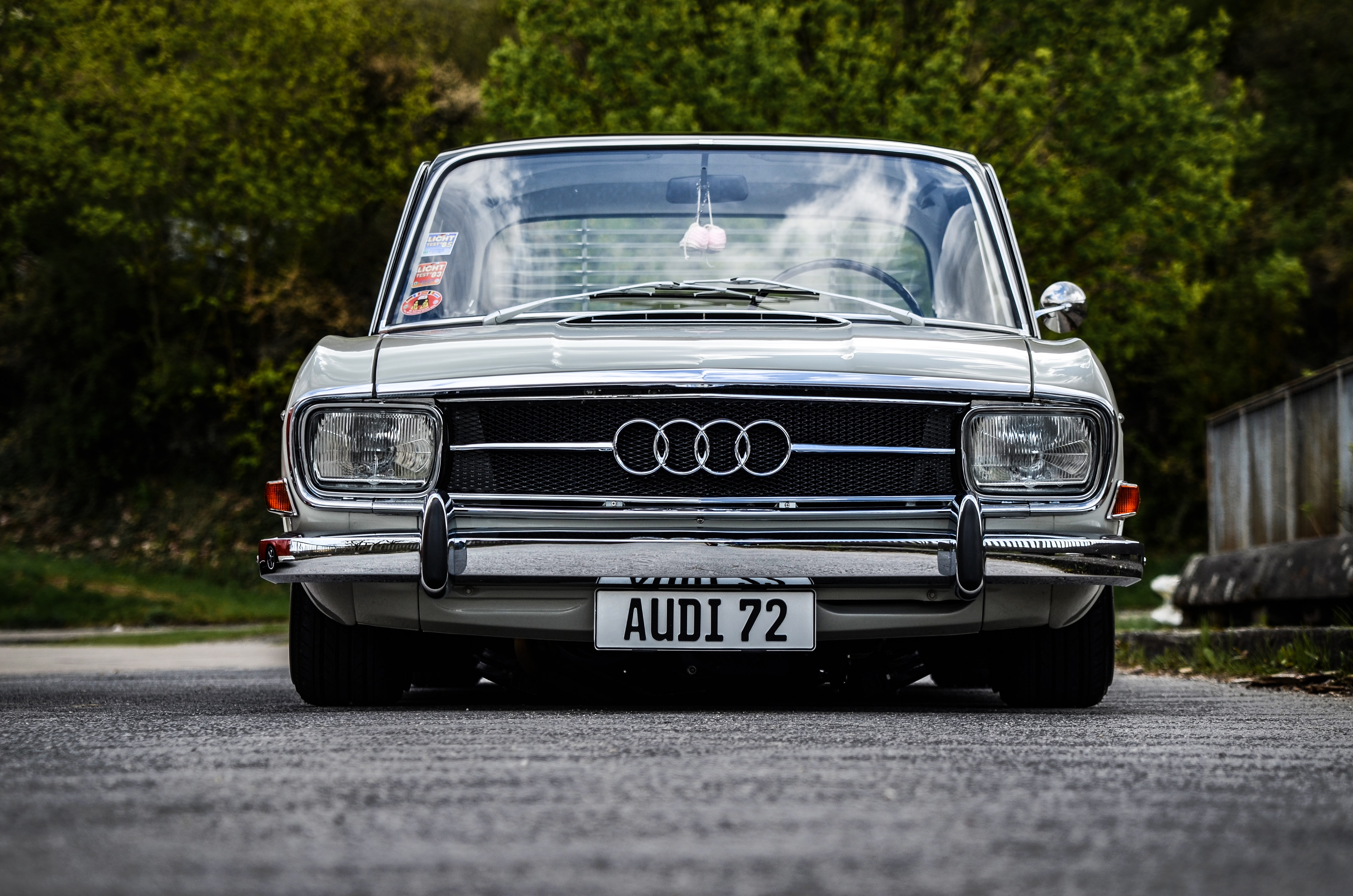 Front view of a vintage Audi car.