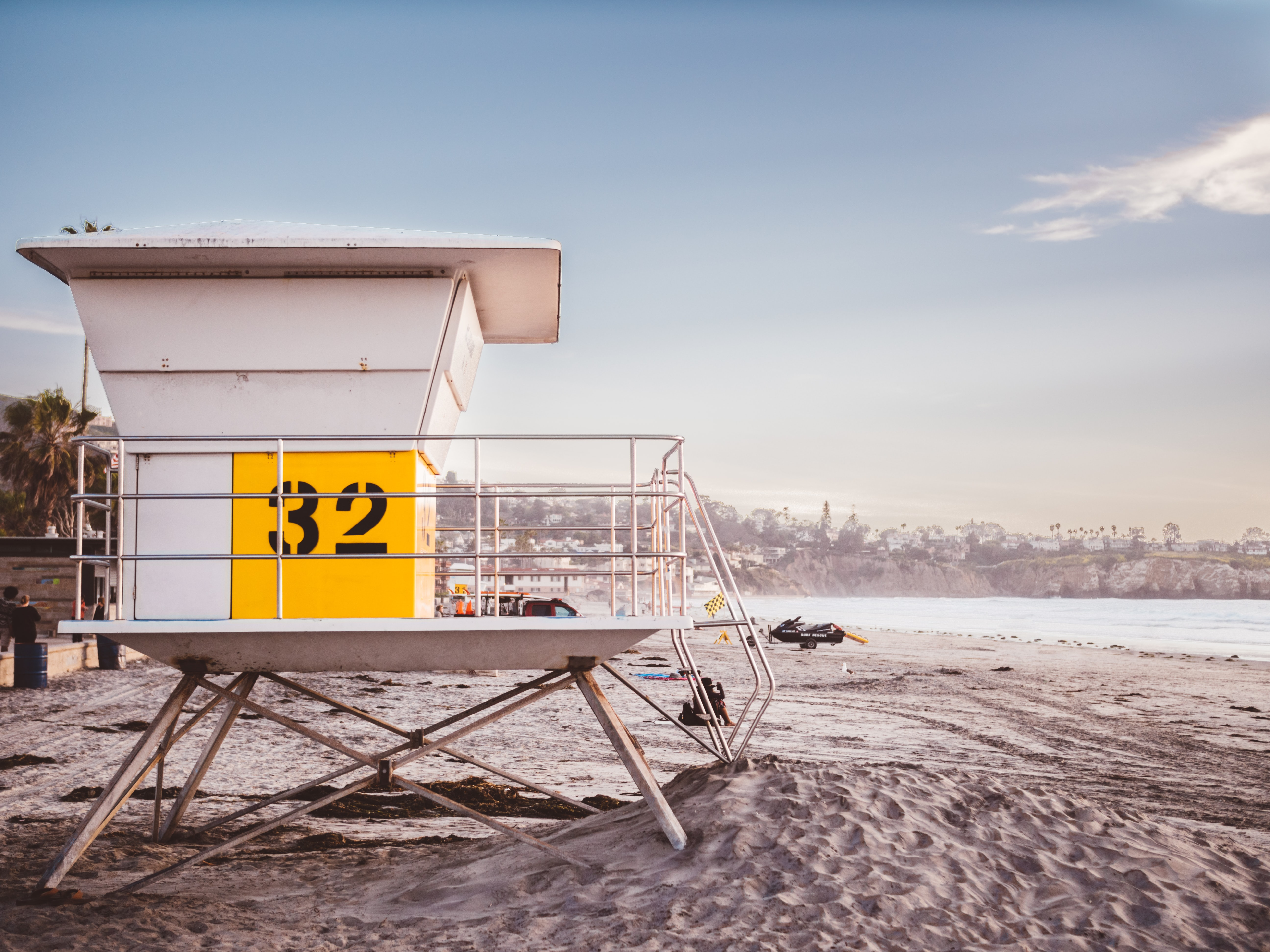 LIfeguard station number 32 at the la Jolla Shores sand Beach