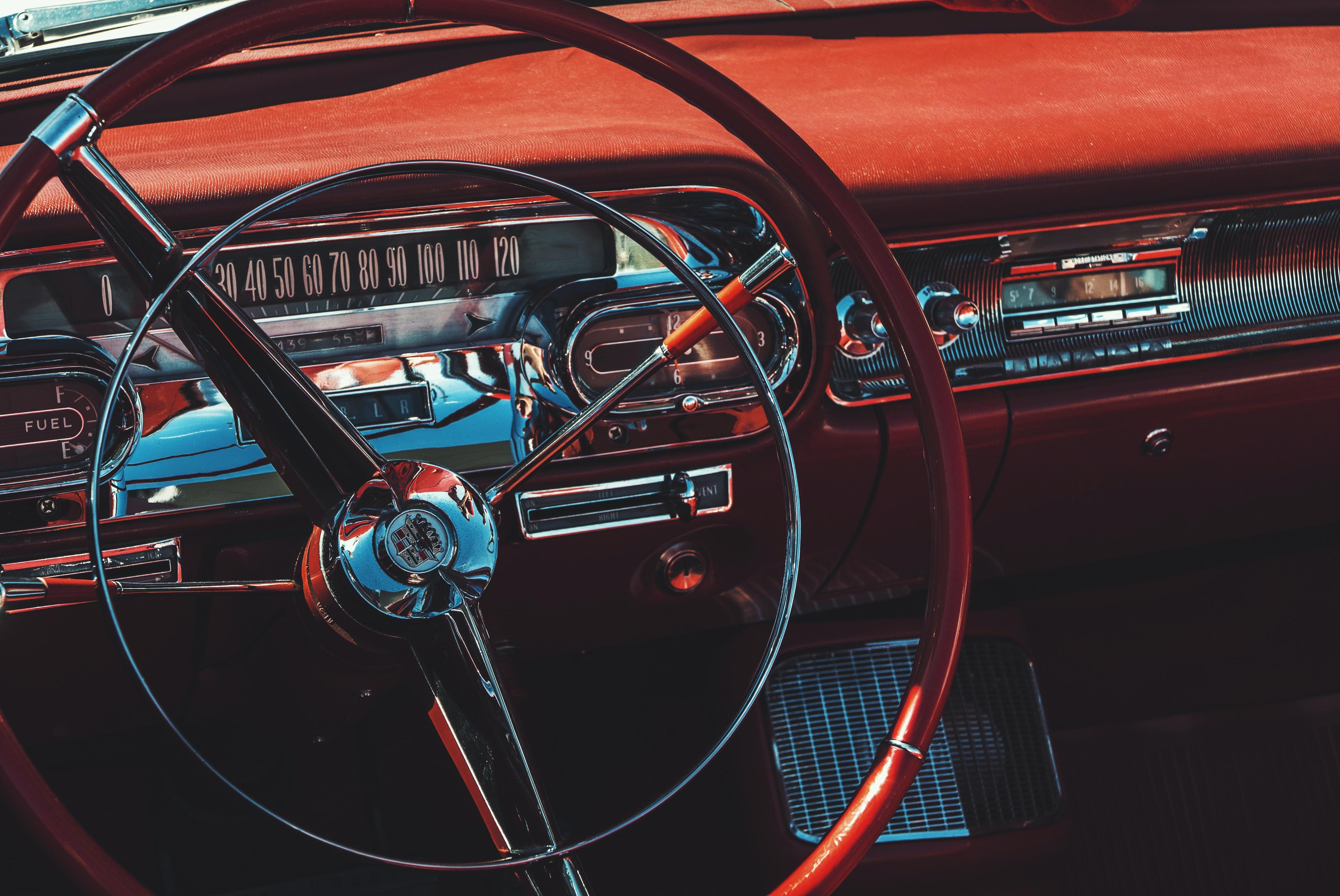 brown vehicle interior