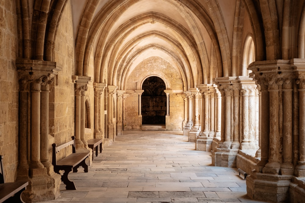 Architecture Church Hallway And Corridor Hd Photo By