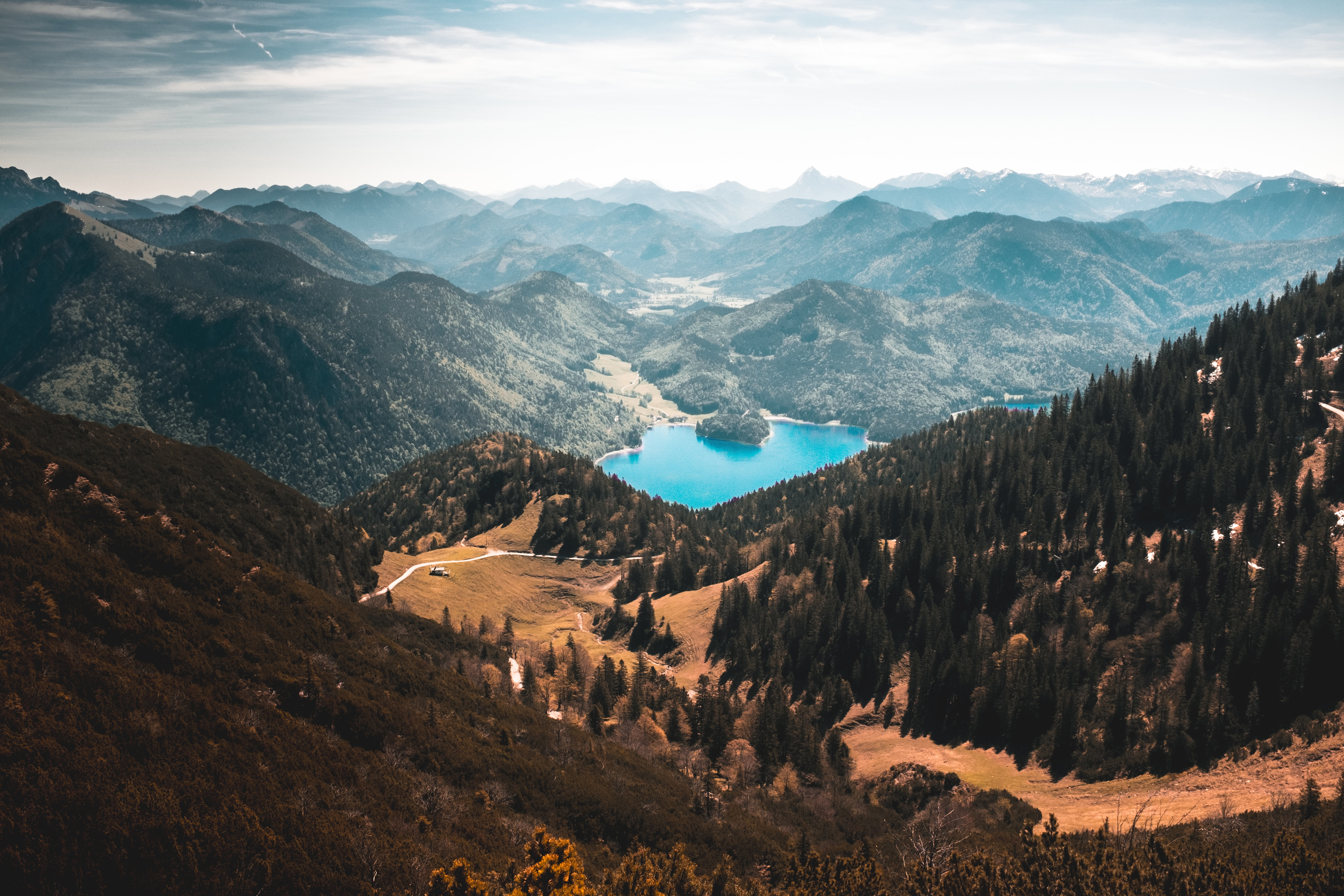 scenery of mountain with lake