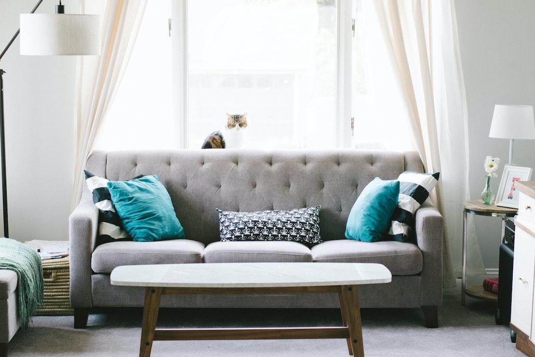 Móveis para decoração de sala de estar.