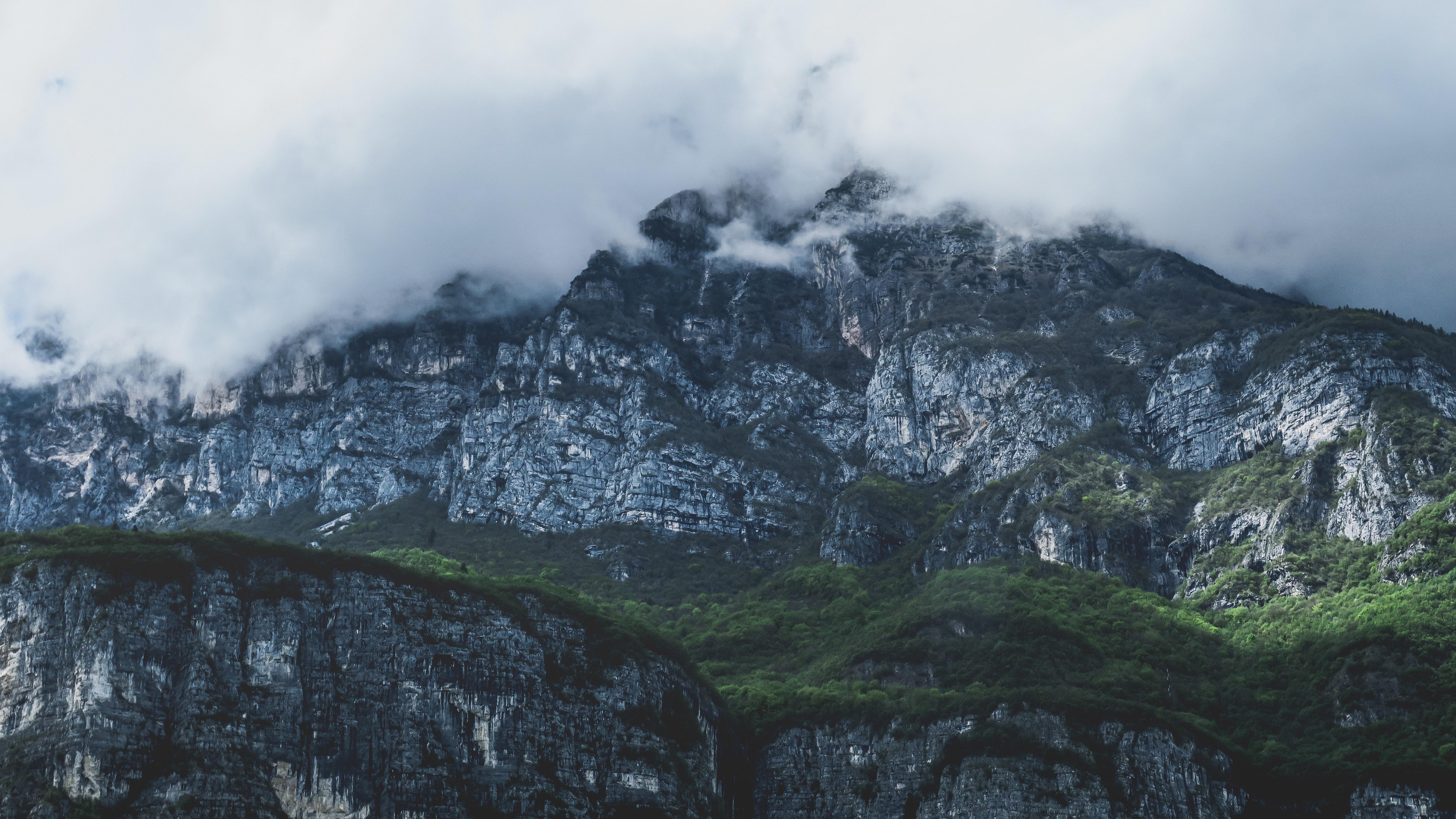 fog covered mountain