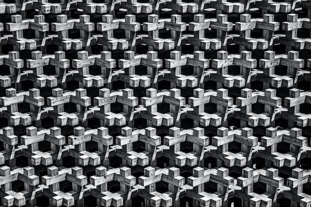 gray and black cross wallpaper