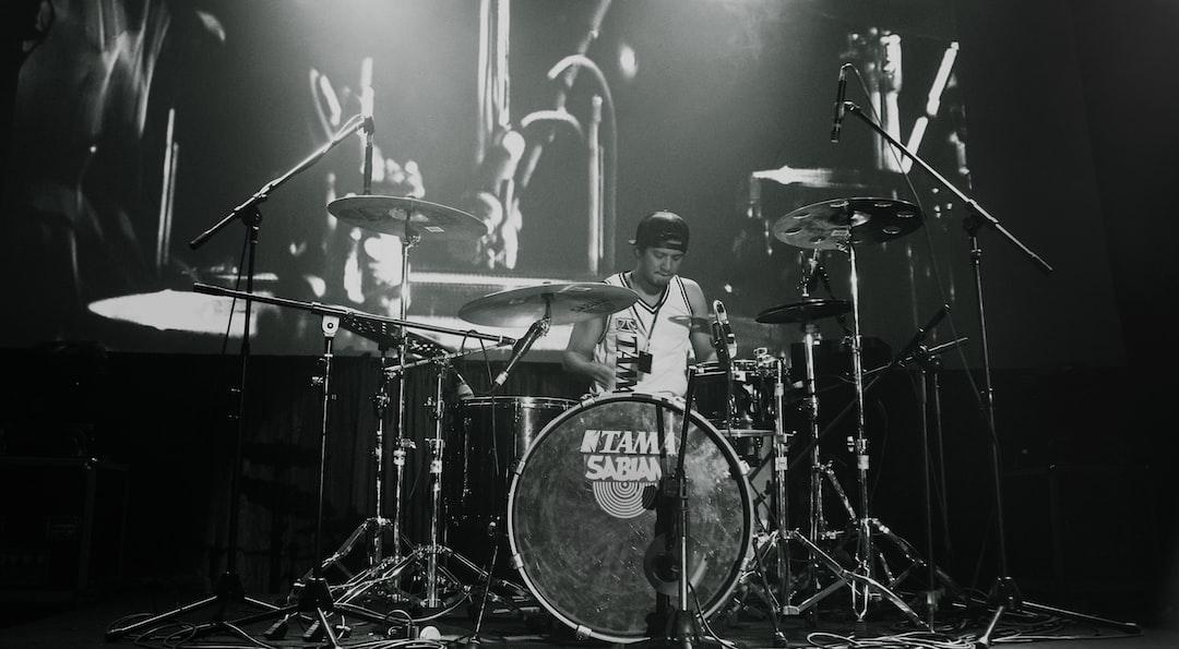 Eno Gitara Ryanto on stage, Bandung Drums Day.