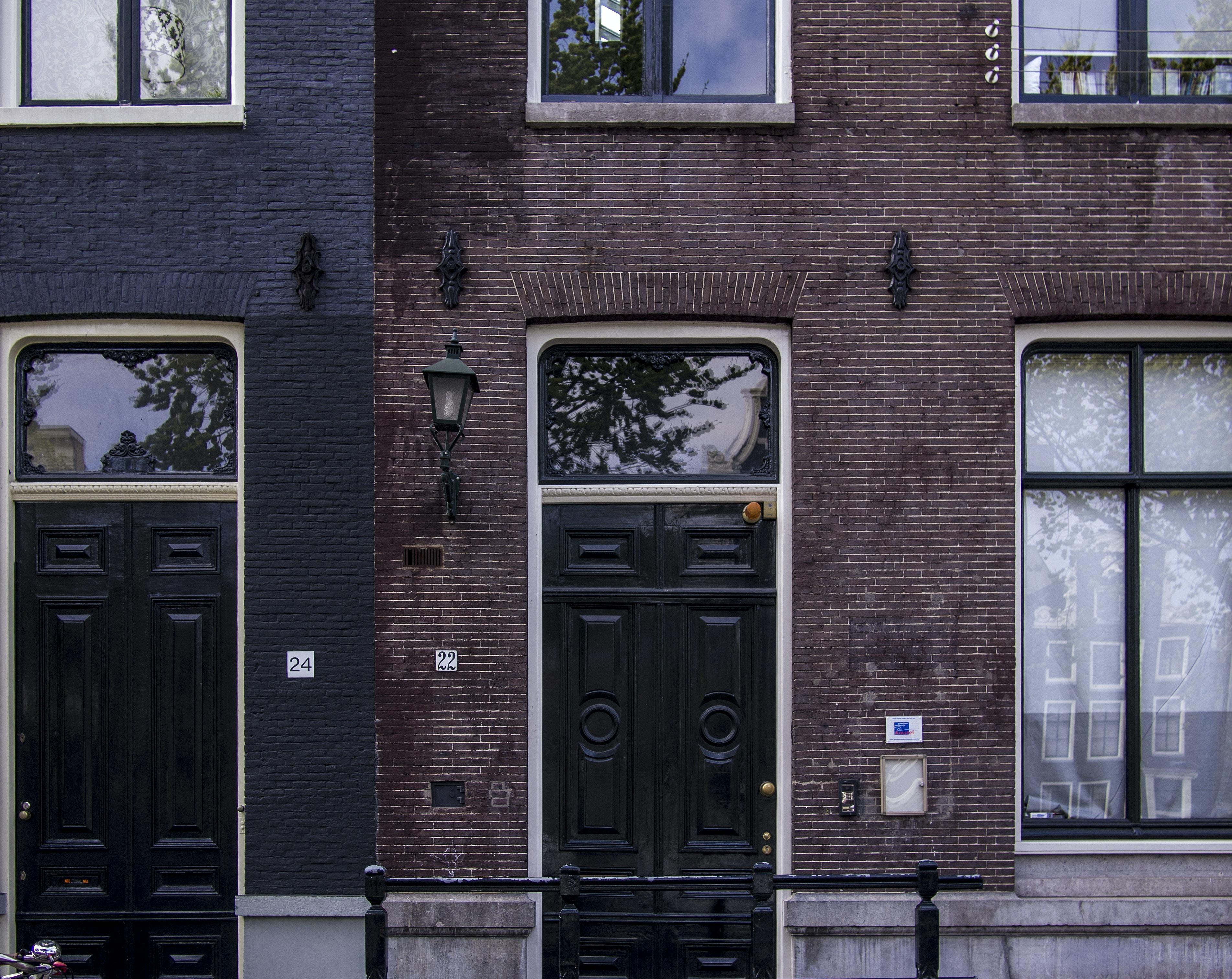 closed door building