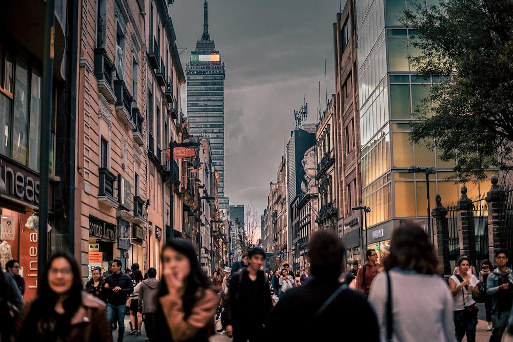 lot of people walking on street