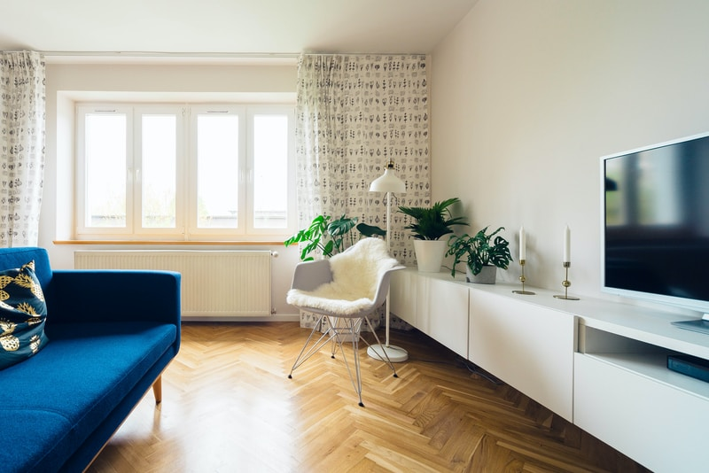 flat screen monitor inside room social housing