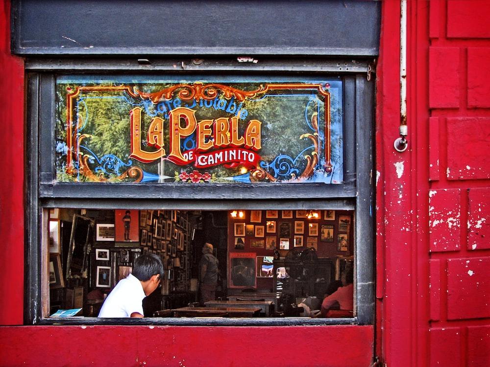 people inside La Perla shop