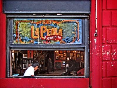 people inside la perla shop argentina zoom background