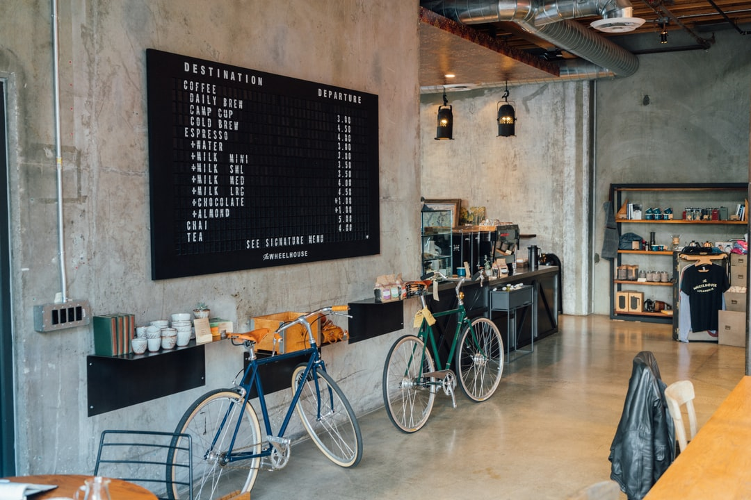 Love this coffee shop in downtown LA. Its a Coffee shop & bicycle shop.