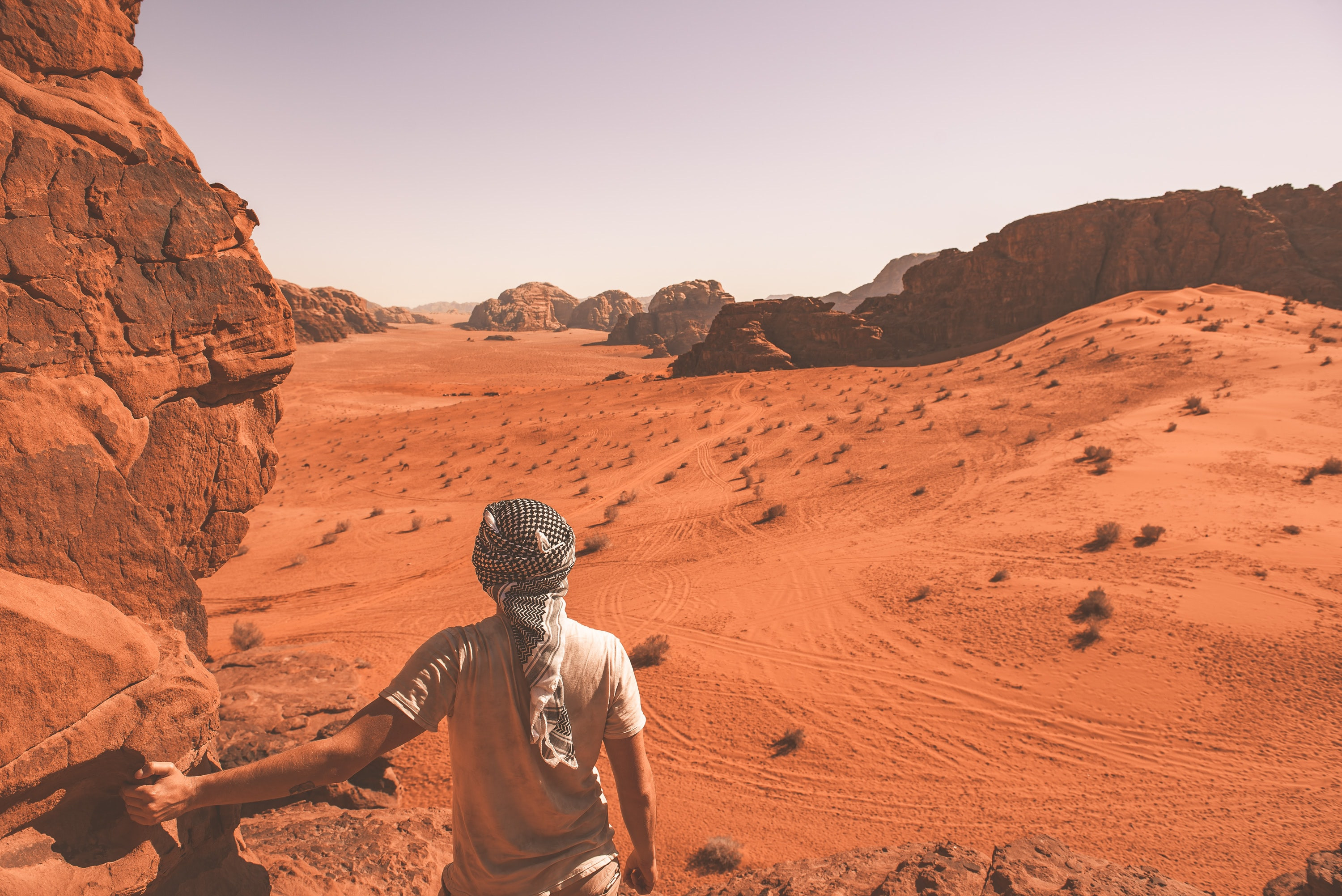 Hot hikes through the desert mountains of Wadi Rum Village