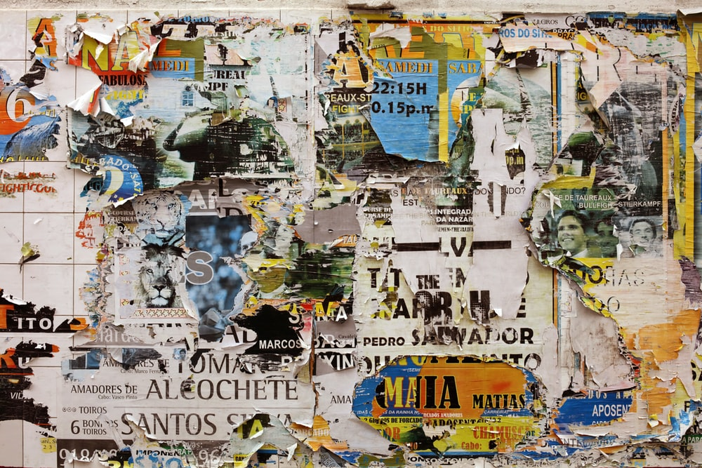 Quotes text symbols signs letters numbers words 100 best a wall covered with layers of torn up posters expocarfo