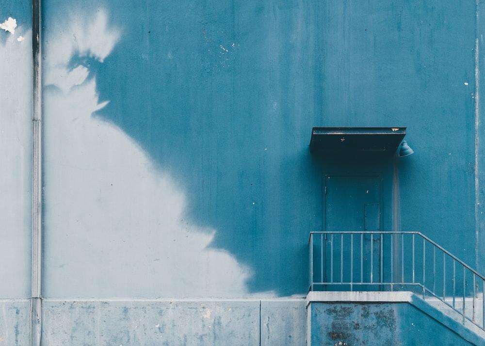 photo of gray steel handrails