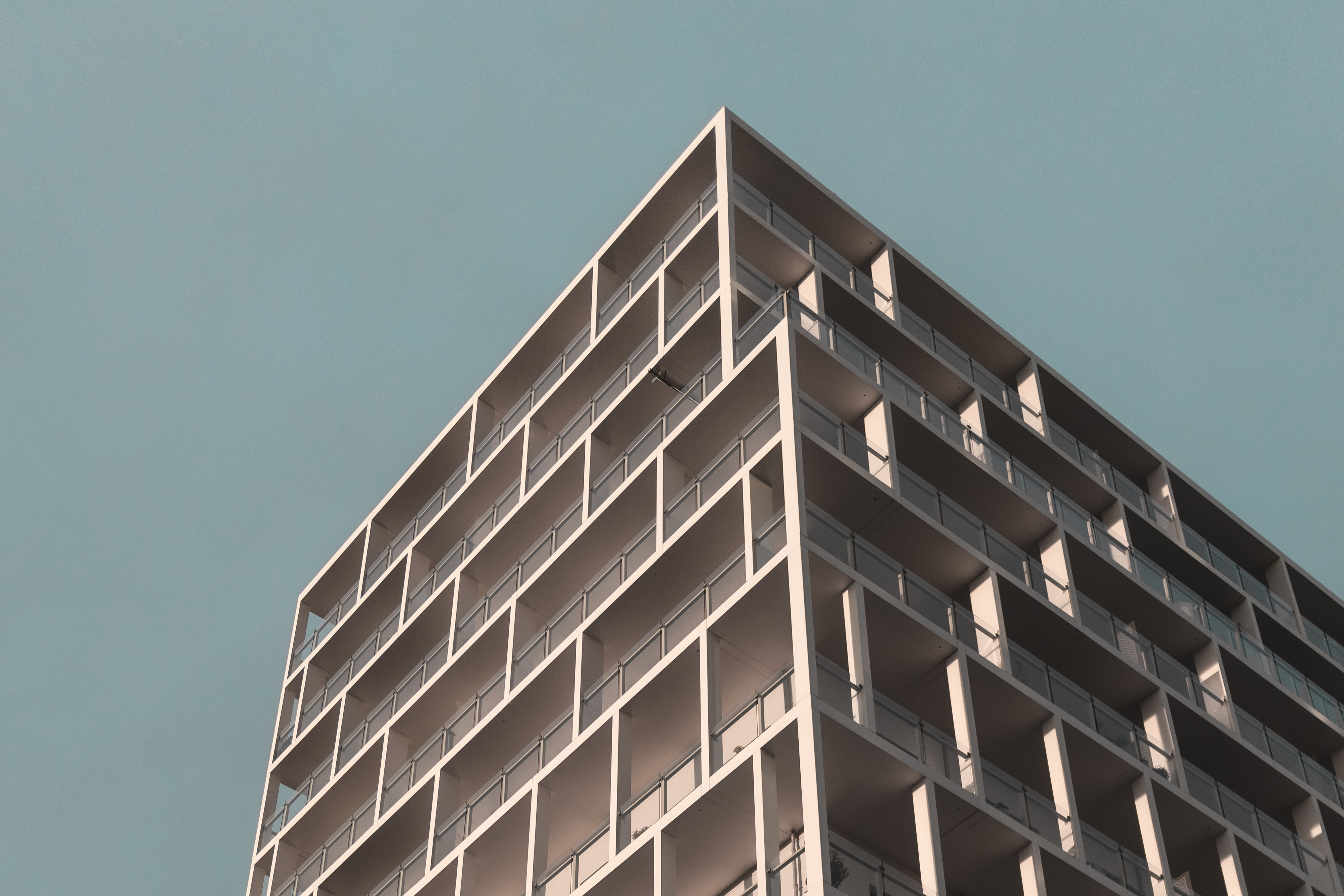 bottom view of high rise building