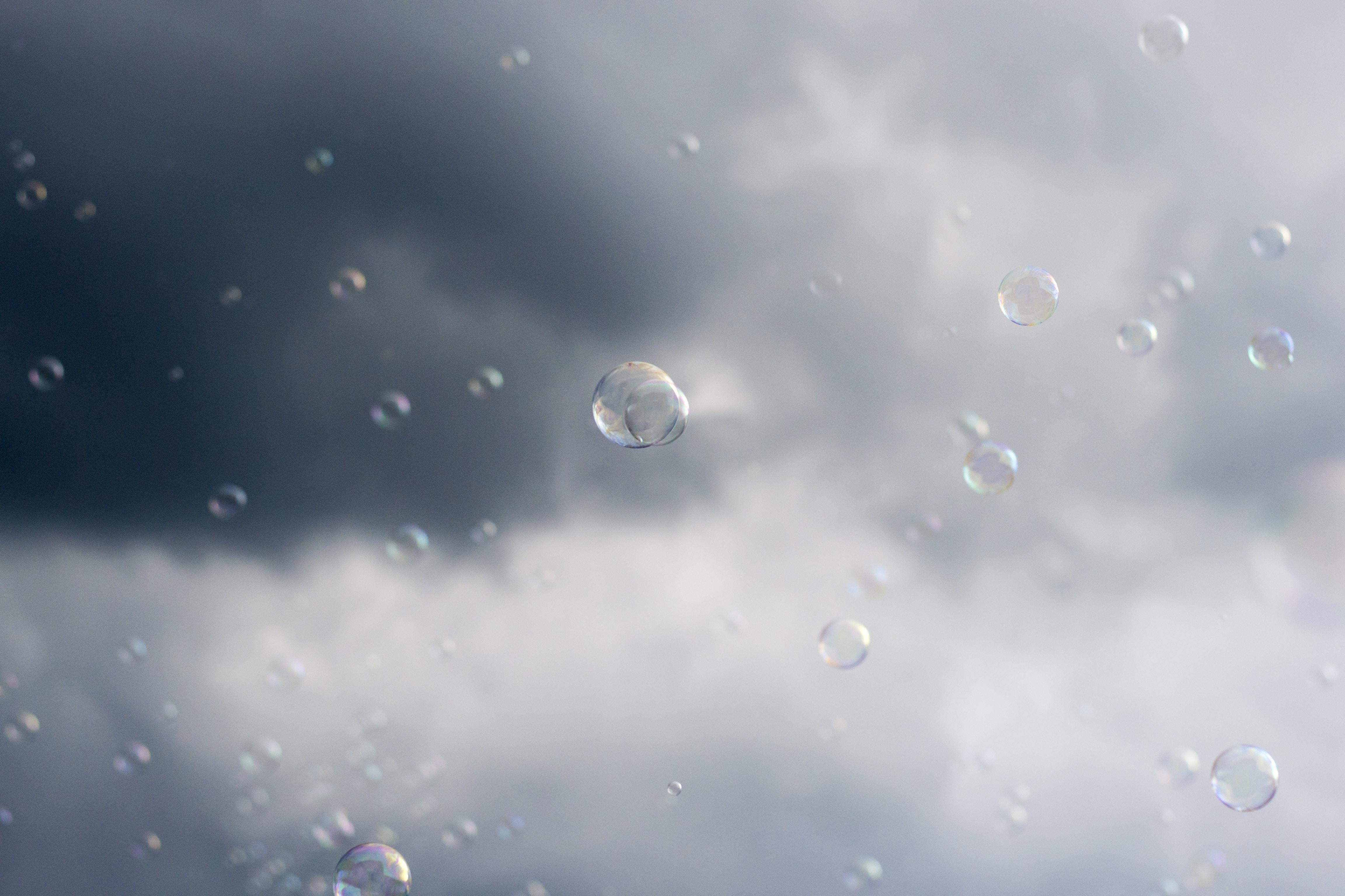 shallow focus of bubbles