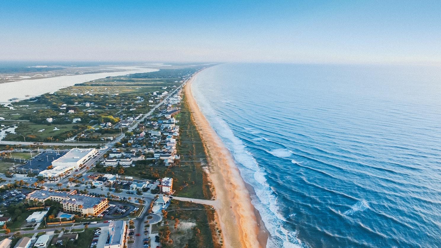 St Augustine coastline in Florida
