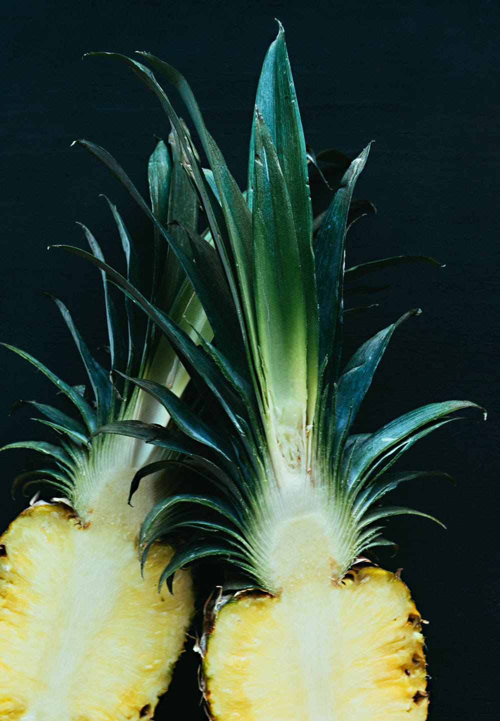 pineapple slices with crown